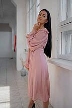 """Шифоновое платье-миди на запах """"Nora"""" с пышными рукавами (2 цвета), фото 2"""