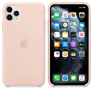 Силиконовый чехол для iPhone 11 Pro Max. Pink Sand. Швы стык в стык, оттенок логотипа и кнопок идентичен, фото 2