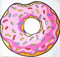 Коврик 3D безворсовый для дома Пончик размер 80х80см Пончик, вес 0,6кг, разноцветный, коврик, коврики для дома, ковер, Коврики 3d