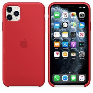 Силиконовый чехол для iPhone 11 Pro Max. Red. Швы стык в стык, оттенок логотипа и кнопок идентичен, фото 2