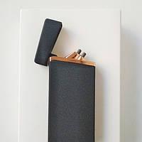 Зажигалка сенсорная двойной дуги Lighter S450 Black гранит