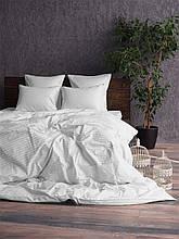 Комплект постельного белья Сатин Stripe WHITE