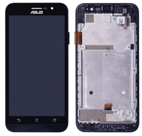 Дисплей модуль для Asus ZB500KG ZenFone Go в зборі з тачскріном, чорний, з рамкою