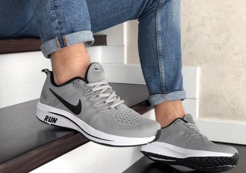 Чоловічі сірі кросівки сітка в стилі Nike Free Run