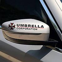 Наклейки - UMBRELLA corporation 2 штуки   -  Черная, фото 1