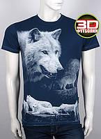 Футболка 3D Valimark Brand Волки  (волк воет на луну) цвет темный джинс, фото 1
