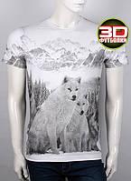 Футболка 3D Valimark Brand white wolf волки на белом цвет белый, фото 1