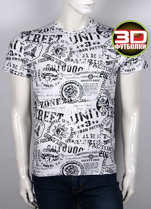 Футболка 3D Valimark Brand Street unit белая