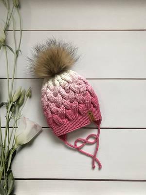 Зимние и демисезонные вязаные шапки ручной работы.