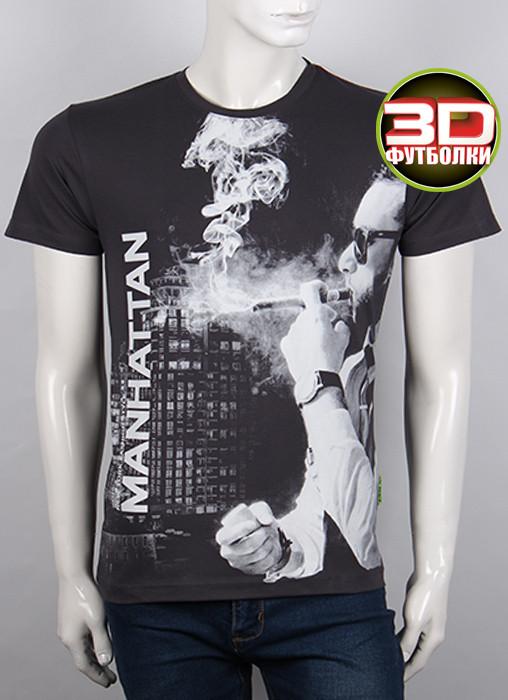 Футболка 3D Valimark Brand Manhattan темно серая