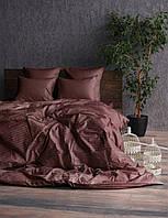 Комплект постельного белья Сатин Stripe CHOCOLATE 1/1см