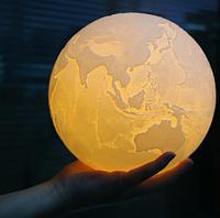 Ночник светильник Земля Earth Lamp 3D 18 см на подставке