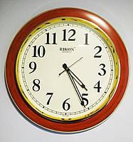 Часы настенные круглые Rikon Quartz 1507 Wood Ivory