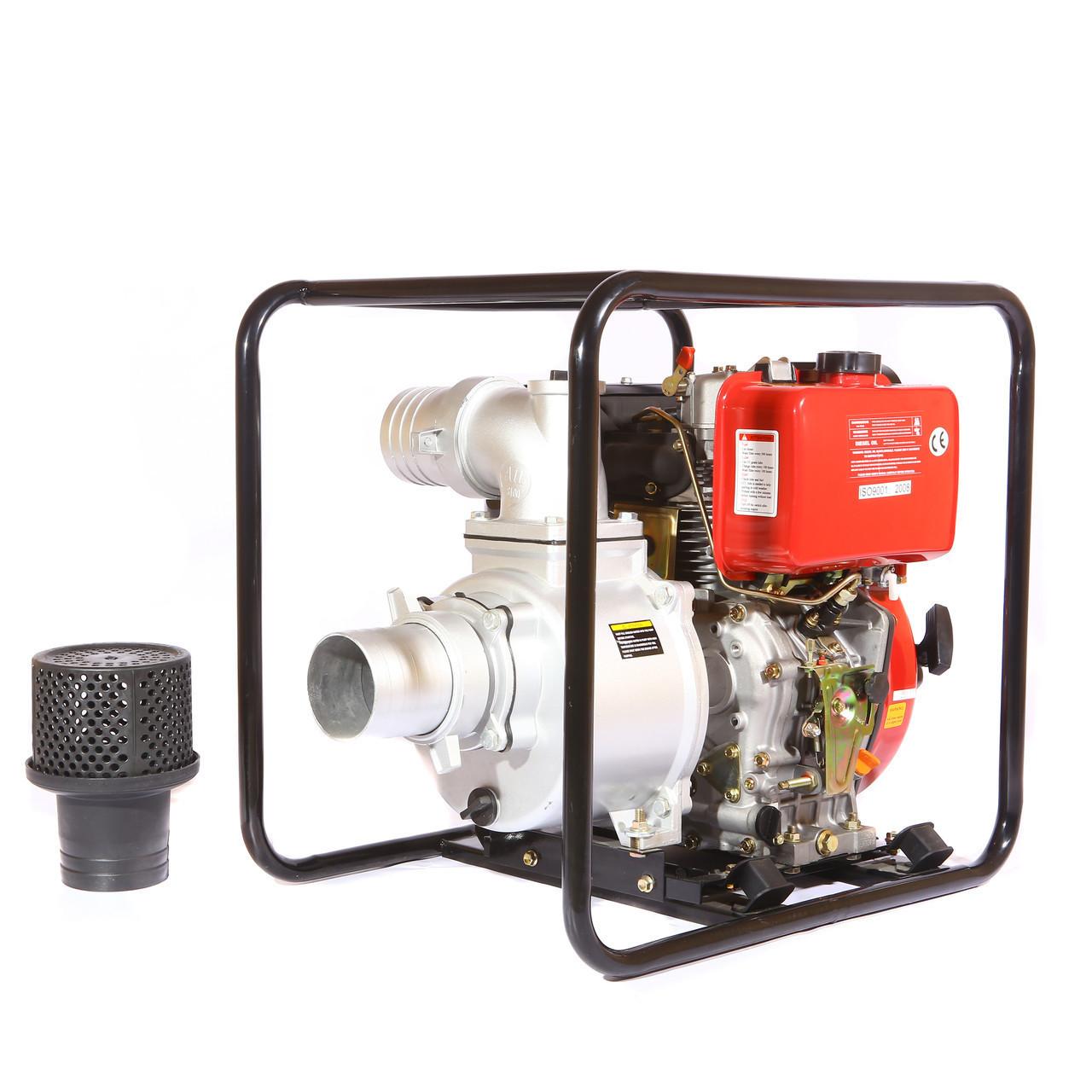 Мотопомпа дизельная WEIMA WMCGZ100-30 (12 л.с., 120 куб. м/ч, 100 мм)