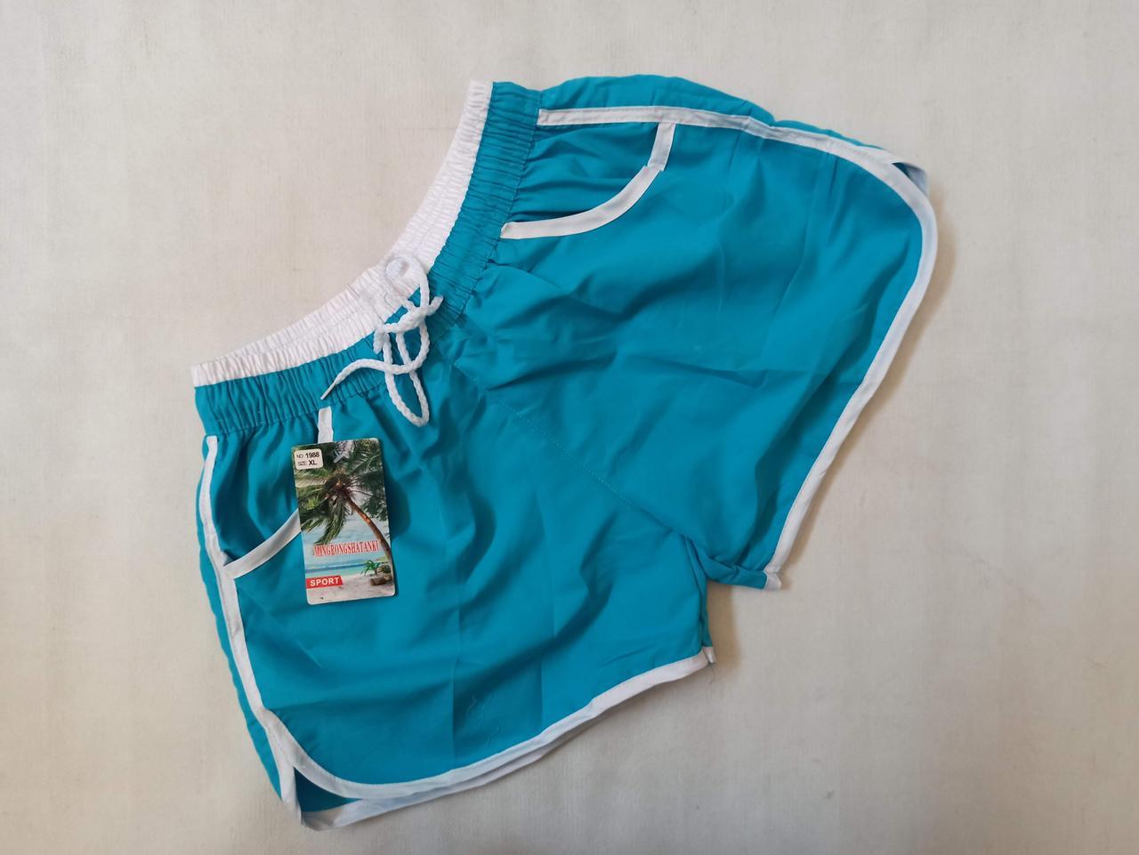 Шорты для женщин  1998 голубой.  (В НАЛИЧИИ ТОЛЬКО  44 46 48 размеры)