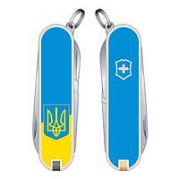 Нож Victorinox Викторинокс Classic SD Ukraine 58 мм 7 предметов желто-голубой