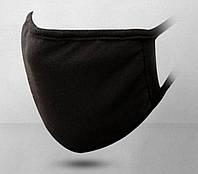 Защитная маска MSD 2 штуки многоразовые двухслойные Черный (5828)