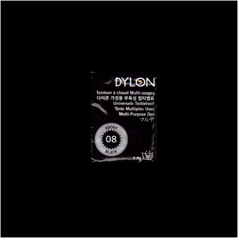 Многоцелевой краситель для ручного окрашивания ткани DYLON Multipurpose Ebony Black