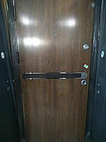 Двери входные с планкой с нержавеющими вставками 960 * 2050
