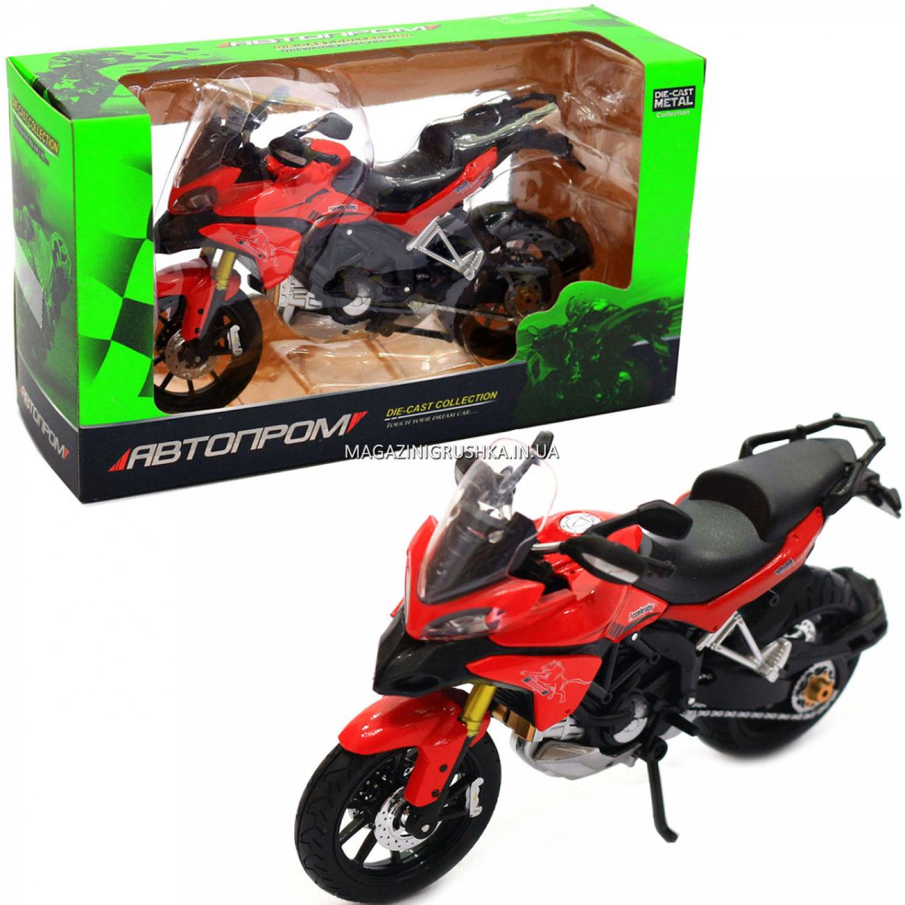 Мотоцикл Автопром HX-795, червоний, 16х5х10 см (7748)