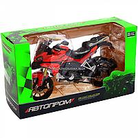 Мотоцикл Автопром HX-795, червоний, 16х5х10 см (7748), фото 2