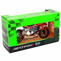 Мотоцикл Автопром HX-795, червоний, 16х5х10 см (7748), фото 3