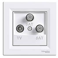 Розетка TV/SAT/SAT оконечная (1дБ) Schneider Electric Asfora Белая (EPH3600121)