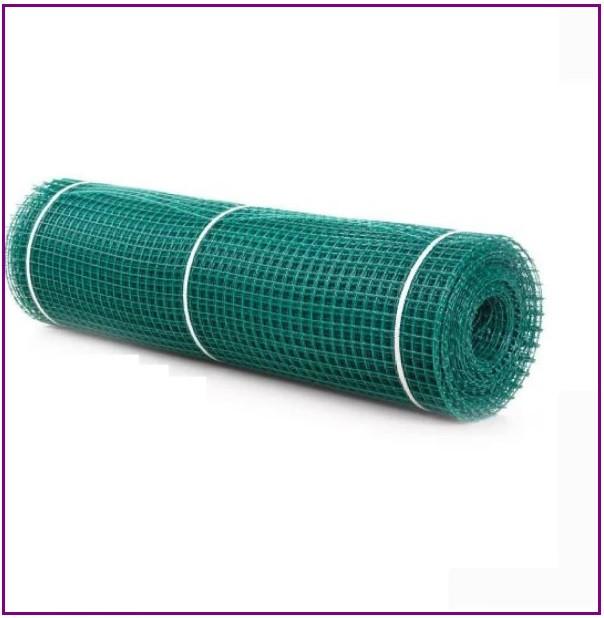 Сетка пластиковая зеленая ячейка 13*13 (квадрат) заборная 1*20 метров