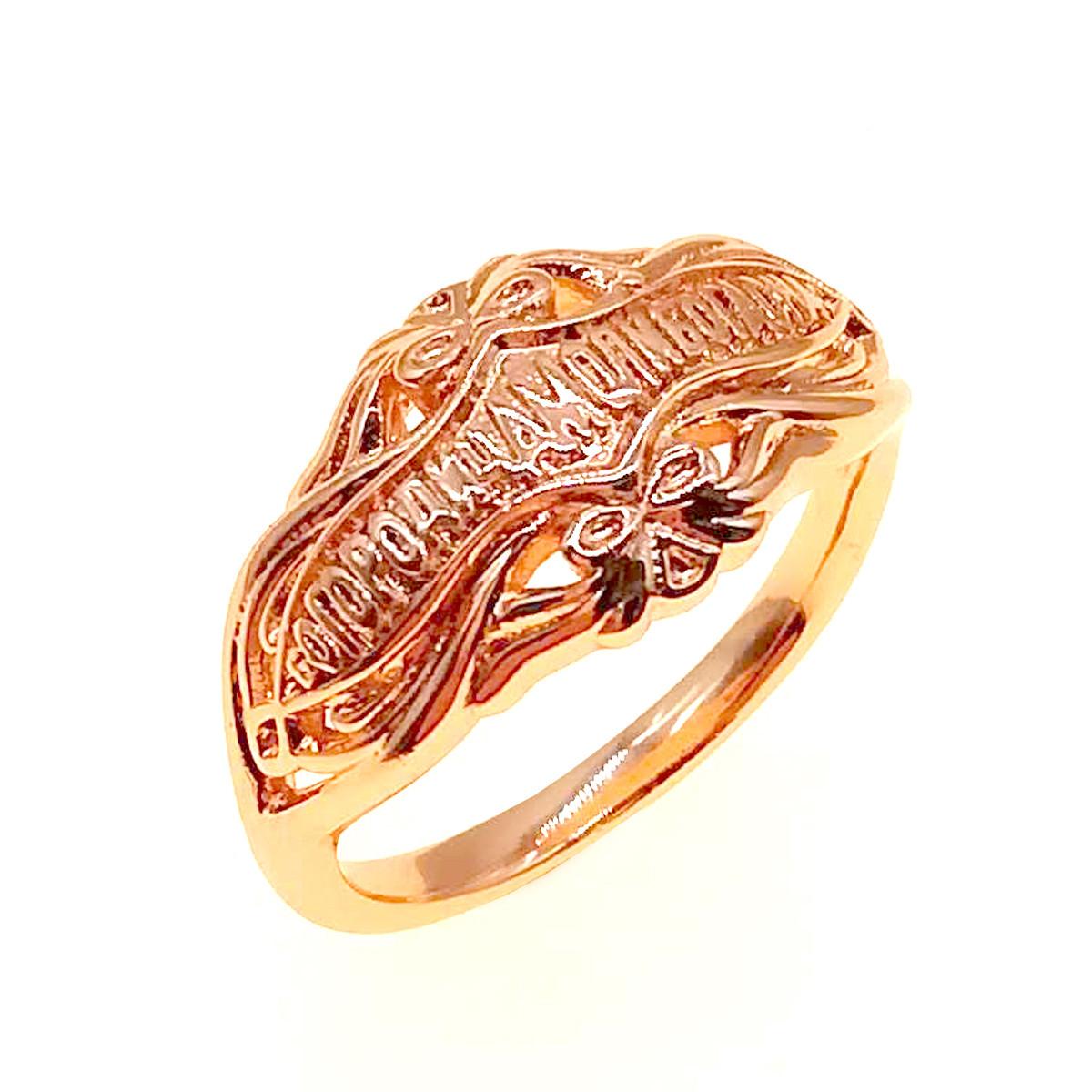 """Кольцо Xuping """"Богородица, моли Бога о нас"""", из медицинского золота, позолота 18K, 11871       (20)"""