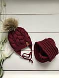 Вязаная шапка и хомут. Ручная вязка., фото 3