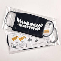 Многоразовая маска для лица с рисунком Улыбка джокера с набором фильтров L (m13lf)