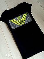 Футболка летняя стильная копия бренда Giorgio Armani PS117