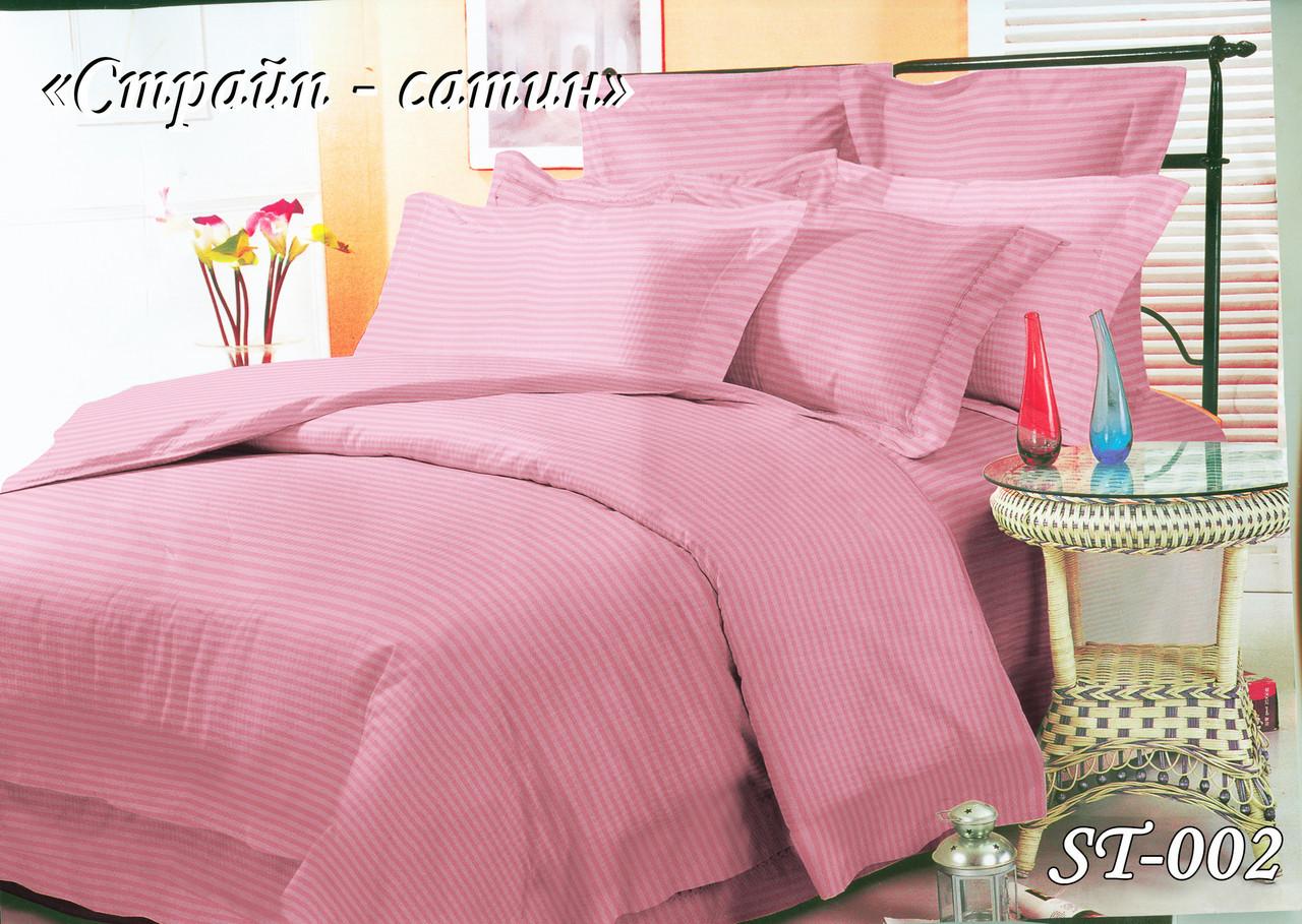 Комплект постельного белья Страйп сатин полуторный размер