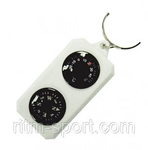 Компас-брелок сувенірний з термометром, фото 2