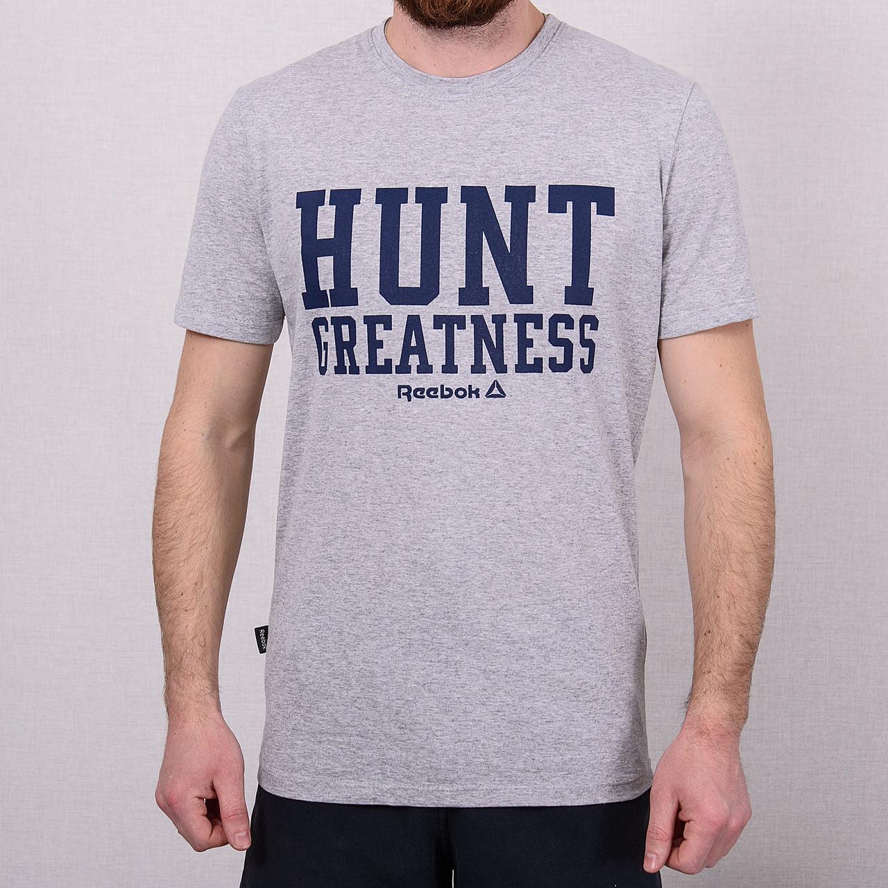 Чоловіча спортивна футболка світло сіра Reebok \ Чоловіча спортивна футболка Reebok
