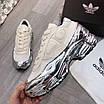 Кроссовки Adidas BY raffsimons массивные черные с серебряной подошвой, фото 2