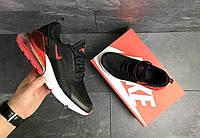 Мужские кроссовки nike air max 270 черные сетка весна-лето