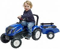 Детский трактор на педалях с прицепомFalk New Holland 3080AB