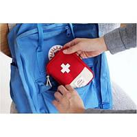 Органайзер - аптечка для дома и в путешествия First aid Pouch размер 18х14см, красный, полиэстер, аптечка, органайзер