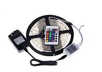 Светодиодная лента SMD 5050 RGB LED 5 м IP65 с пультом и блоком питания