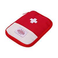 Органайзер аптечка для дома и в путешествия First aid Pouch красный