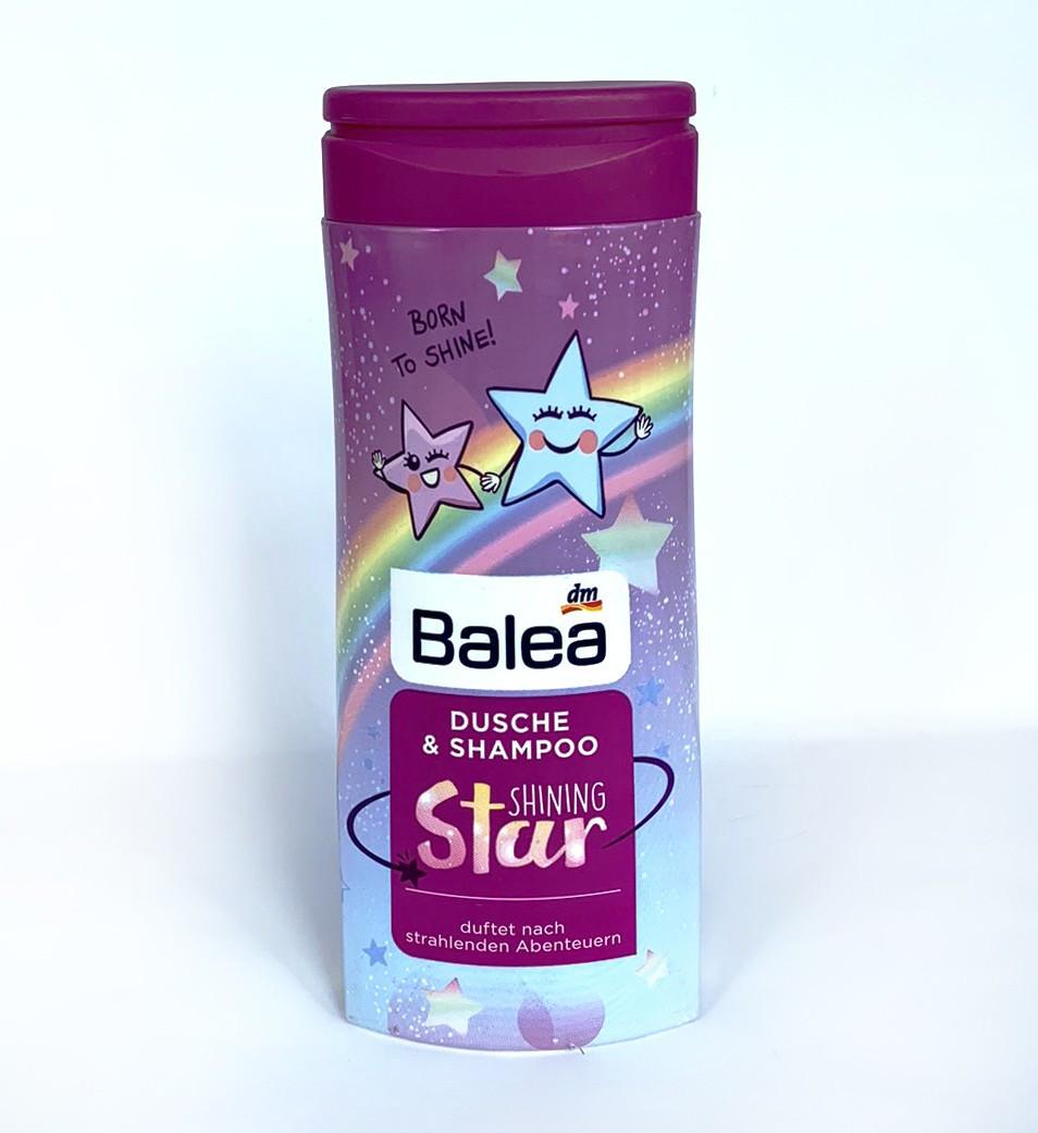 Balea Shining Star - Детский гель для душа + шампунь 300 мл 01293