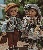Набор из 2 фарфоровых кукол Бруно и Берта RF-Collection