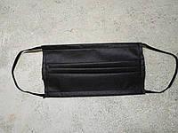 Черная маска защитная повышенной плотности. Медицинский спанбонд 50 штук