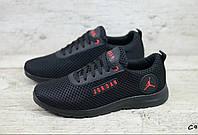 JORDAN С9 мужские кроссовки сетка чёрная