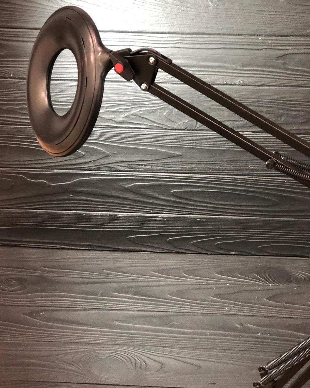 Лампа- настольная с LED подсветкой кольцевая чёрная