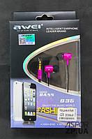 (DL) Наушники Awei- Q35 розовый
