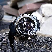 Стильний чоловічий годинник Casio G-Shock, чорний. На подарунок чоловікові, хлопцеві!