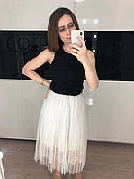 Женская белая юбка фатин