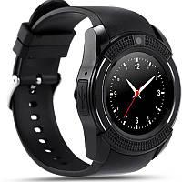 Мужские функциональные смарт-часы Android Smart Watch V8 черные